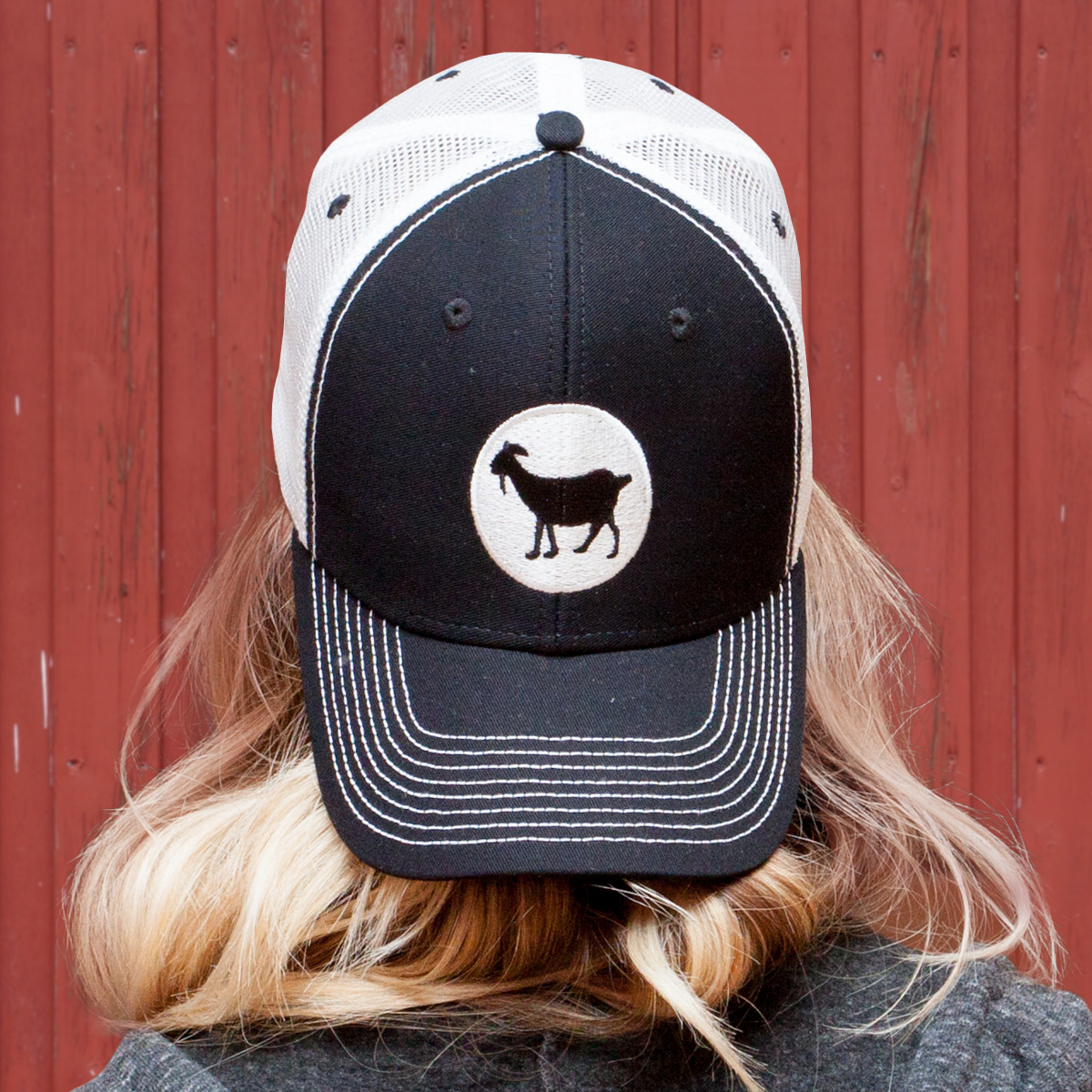 35d6d89d795 The Goat Embroidered Round Logo Hat – Black – The Goat Bar and Grill ...